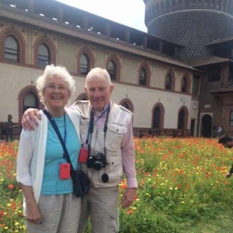 2015-05-06 Nikki and Dick Watson at Sforza Castle.JPG
